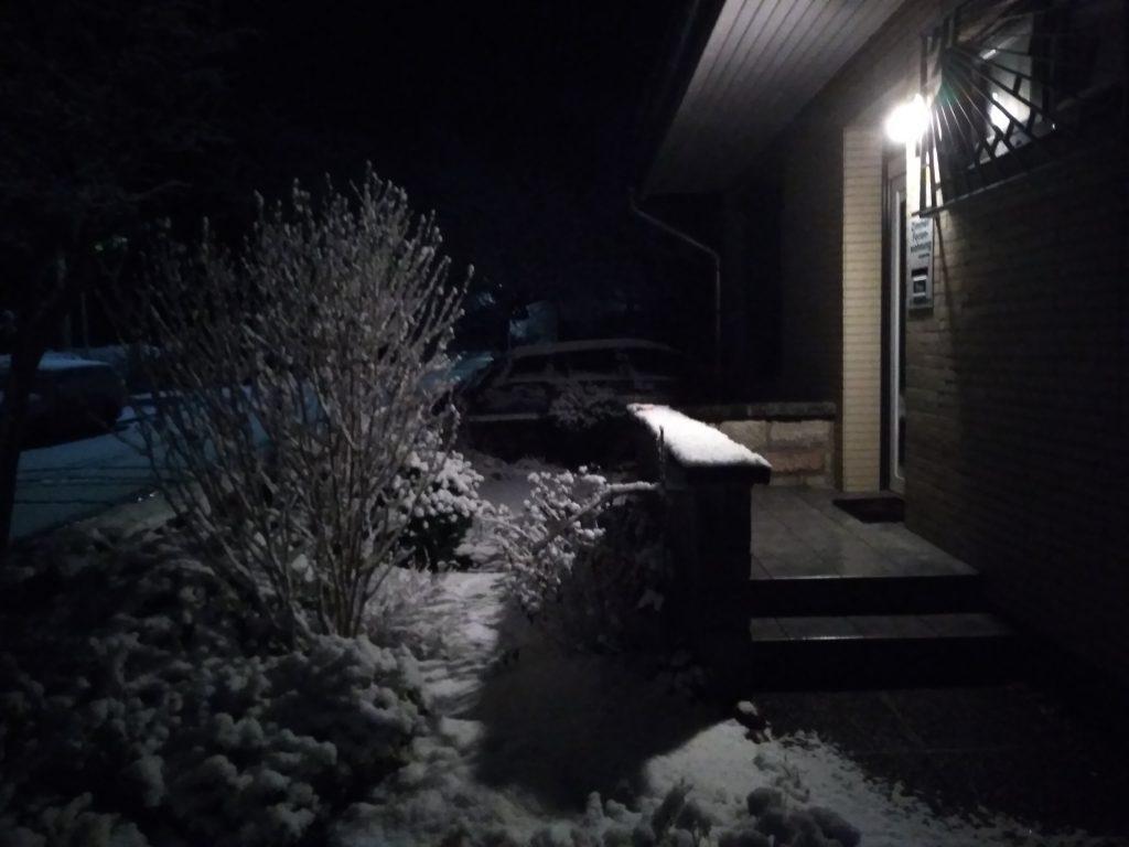 Schnee im Garten
